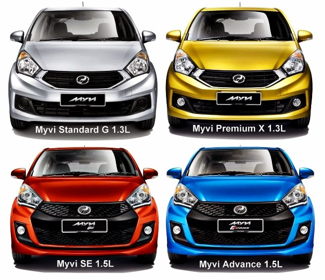 Variant Model Perodua Myvi Baru (Facelift) 2015