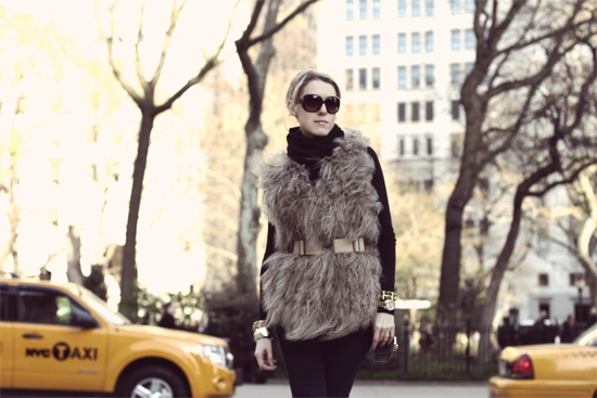 Fur And Sparkling Weekend Outfit of the Day Post