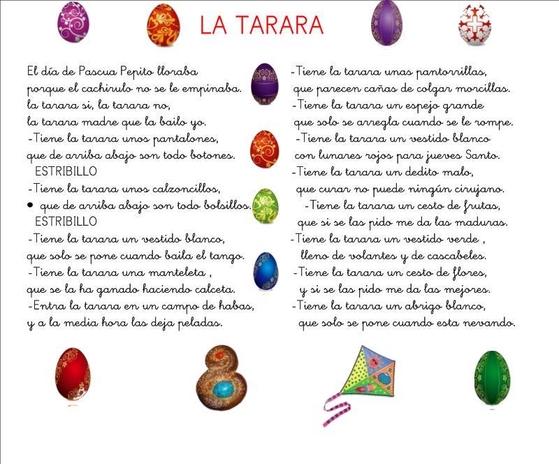 CLASE DE ELENA 4 AÑOS: CANCIÓN DE LA TARARA