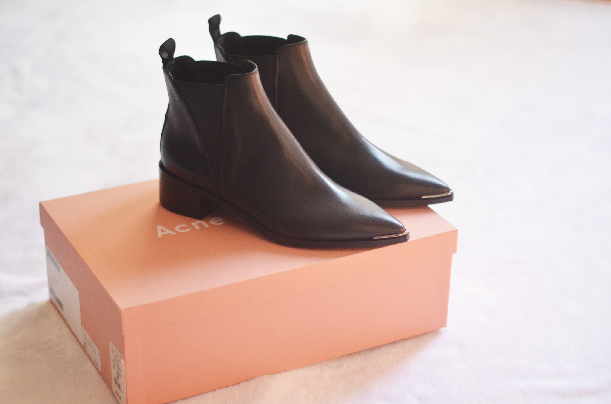 acne jensen boots smooth black leather