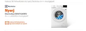 Iratkozz fel a hírlevélre és nyerj Electrolux A+++ mosógépet!
