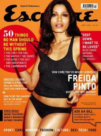 Freida Pinto  Esquire UK1 - Freida Pinto on the cover of Esquire UK
