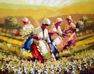 Paisajes Modernos Mujeres Flores