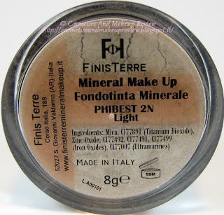 FinisTerre Mineral Makeup - Fondotinta Phibest 2N Light back