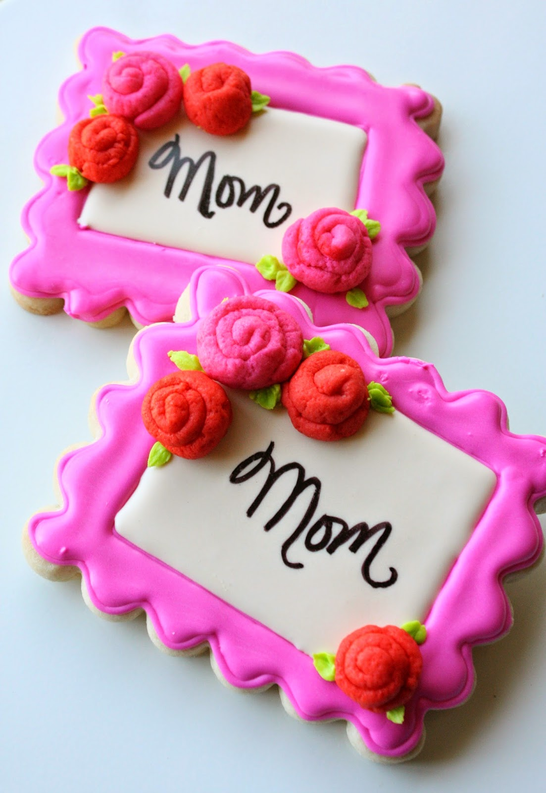 Ribbon Rose Cookies {For Mom}, Lay The Table
