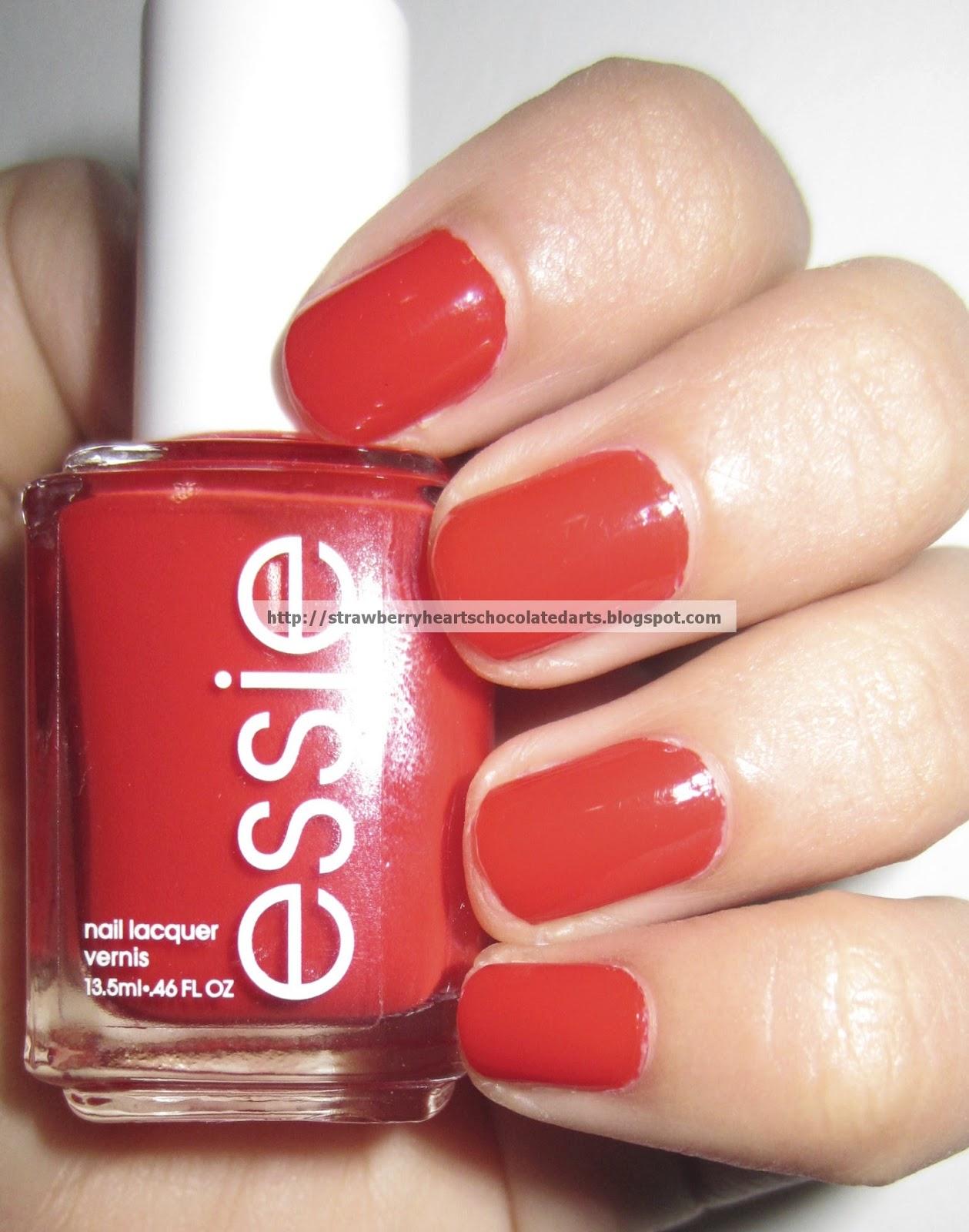 Strawberry Hearts Chocolate Darts: Essie Nail Polishes: No More Film ...