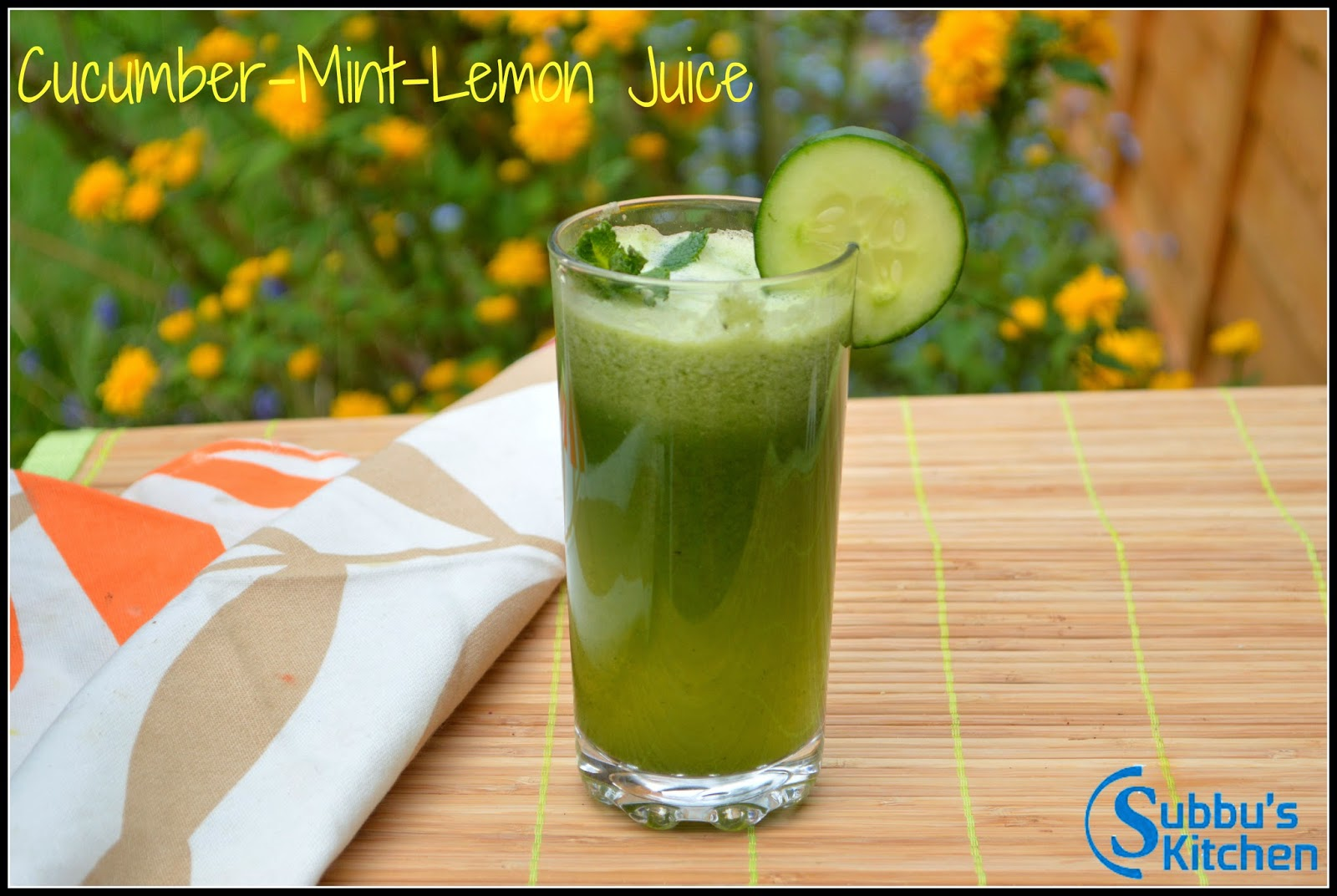 Cucumber-Mint-Lemon Juice