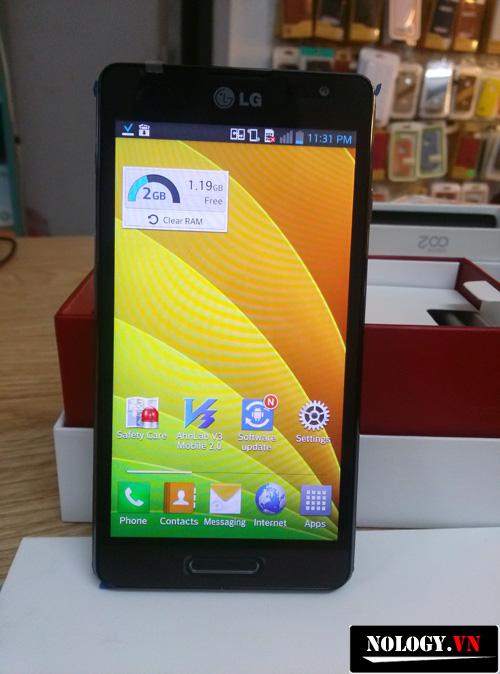 Trên tay đánh giá thiết kế, cấu hình điện thoại LG LTE 3 (LG Optimus F7)