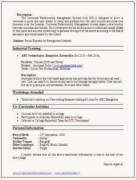Download Resume Template Here!!!