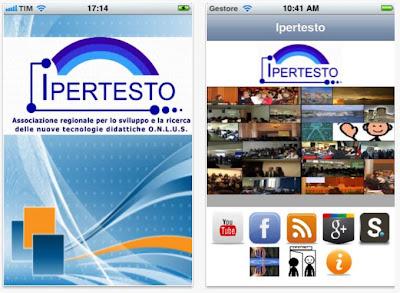 screenshot della app