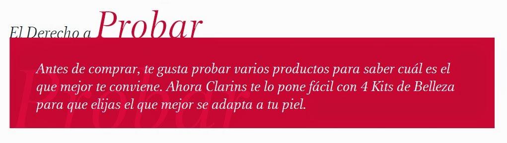Clarins, ¡todas tenemos derecho a probar! (II)