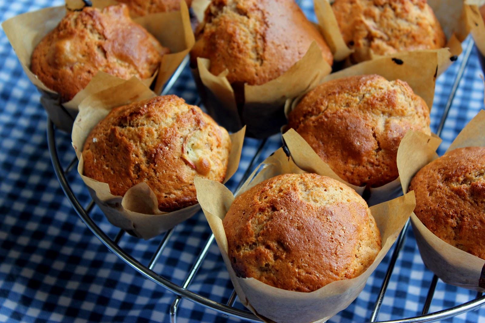 In My Life: Healthy Rhubarb Muffins