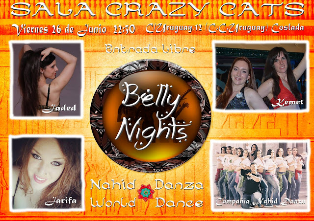 Belly Nights espectáculo de Danza Oriental en la Sala Crazy Cats de Coslada