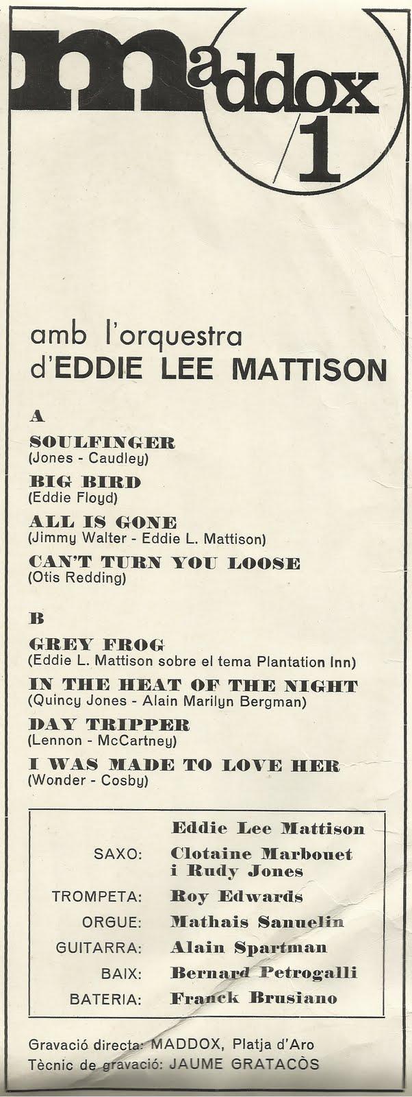 Eddie Lee Mattison A La Costa Brava