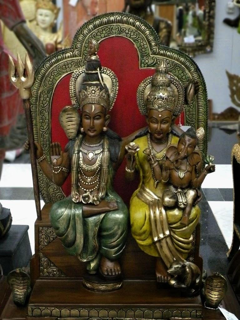 Wood carved Hindu deities