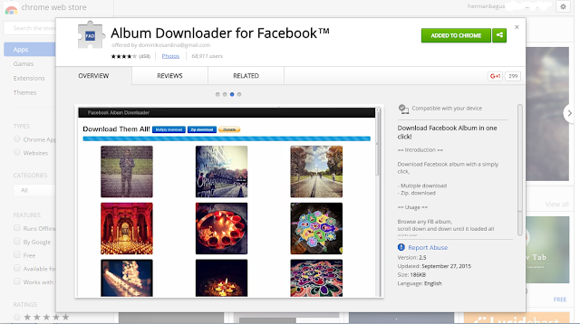 Cara Download Foto Langsung Satu Album di Facebook