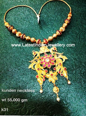 Traditional Gold Kundan Necklace