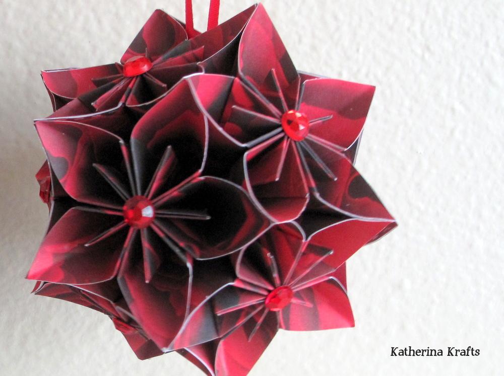 katherina krafts christmas kusudama ball ornaments
