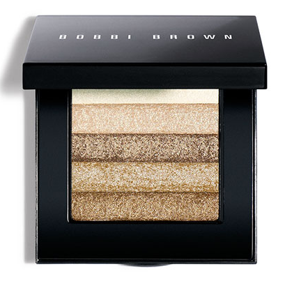 beauty trends, Trend-Filled Thursdays, gold beauty products, makeup, Bobbi Brown Beige Shimmer Brick Compact