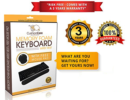 Keyboard Wrist Pad + Mouse Pad by CushionCare #keyboardpad