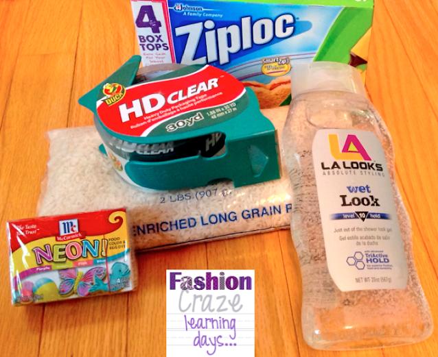 sensory bag supplies