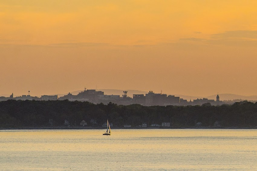 Portland, Maine City Skyline from Jewell Island in Casco Bay Summer August 2014 Photo by Corey Templeton