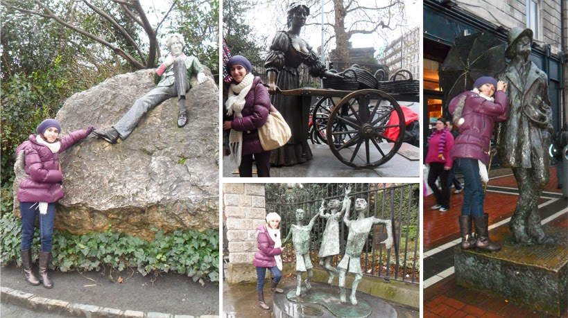 Oscar Wilde, Molly Malone, James Hoyce  y la estatua Millennium Child