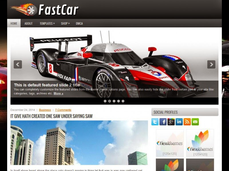 FastCar - Free Wordpress Theme