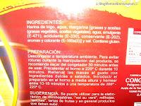 Ingredientes de la masa de hojaldre congelada HACENDADO
