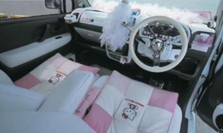 dewi hutabarat pink car interior. Black Bedroom Furniture Sets. Home Design Ideas