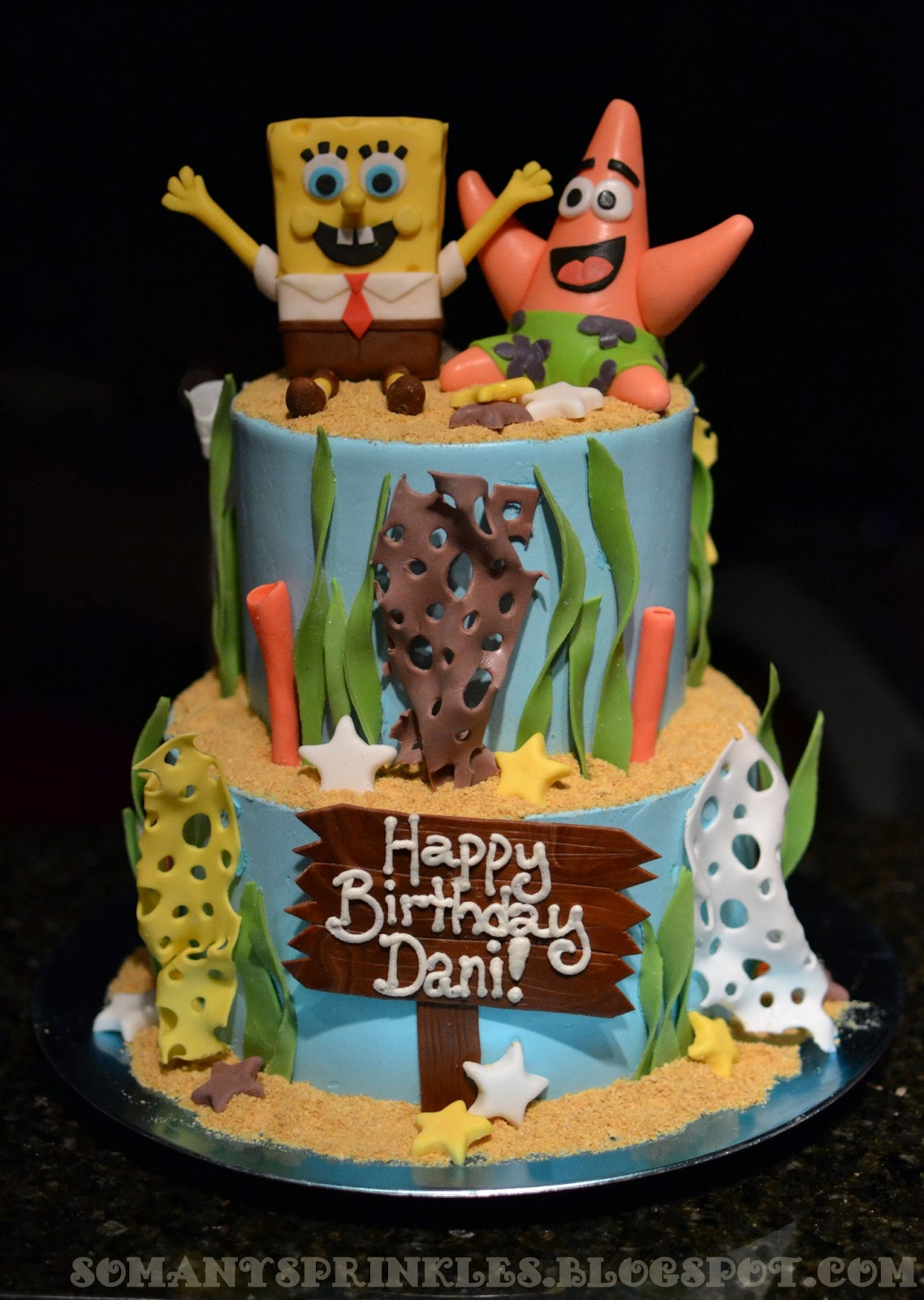 So Many Sprinkles Spongebob Birthday Cake
