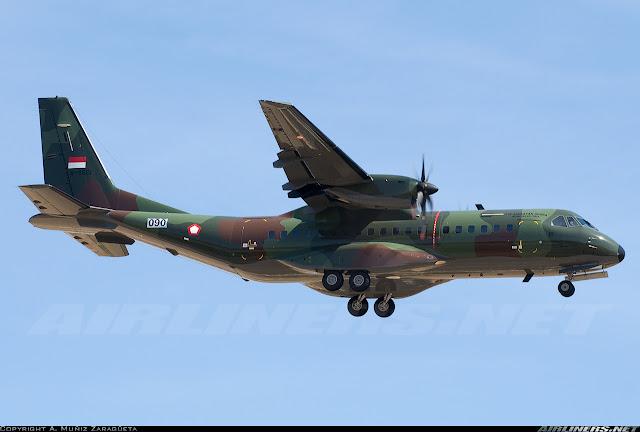 Pesawat militer CN-295 produksi PT Dirgantara Indonesia (Persero)