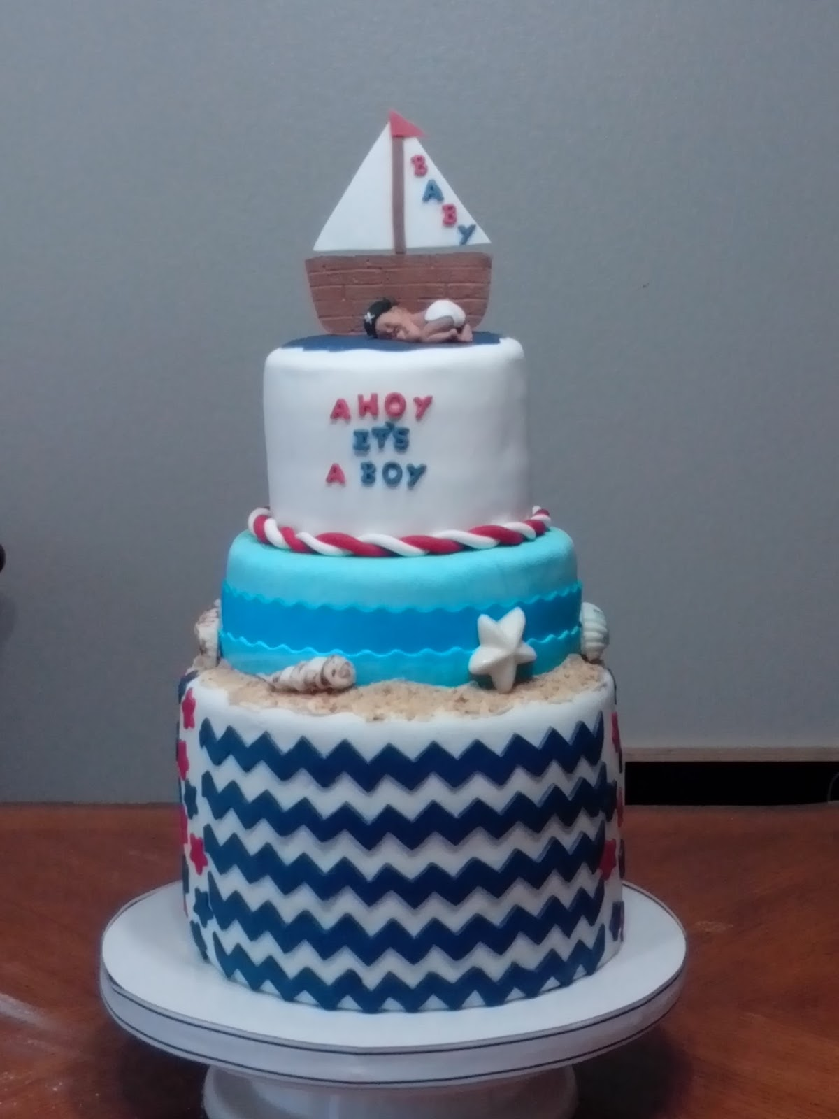 my cake hobby nautical baby shower cake