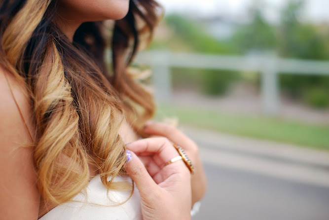 Balayage Hair Dip Dyed Brown to Blonde Ombre Hair
