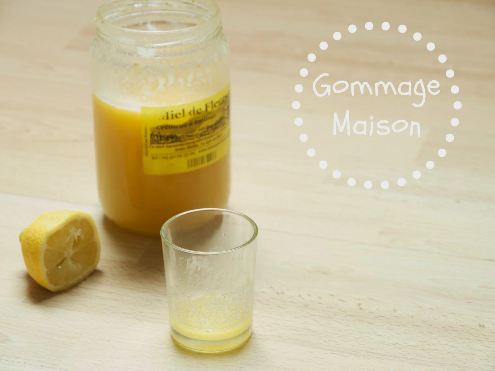 une chouette part gommage naturel pour le visage au miel sucre et citron. Black Bedroom Furniture Sets. Home Design Ideas