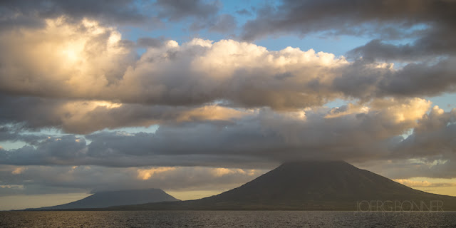 The volcanoes of Isla de Ometepe in sunset light