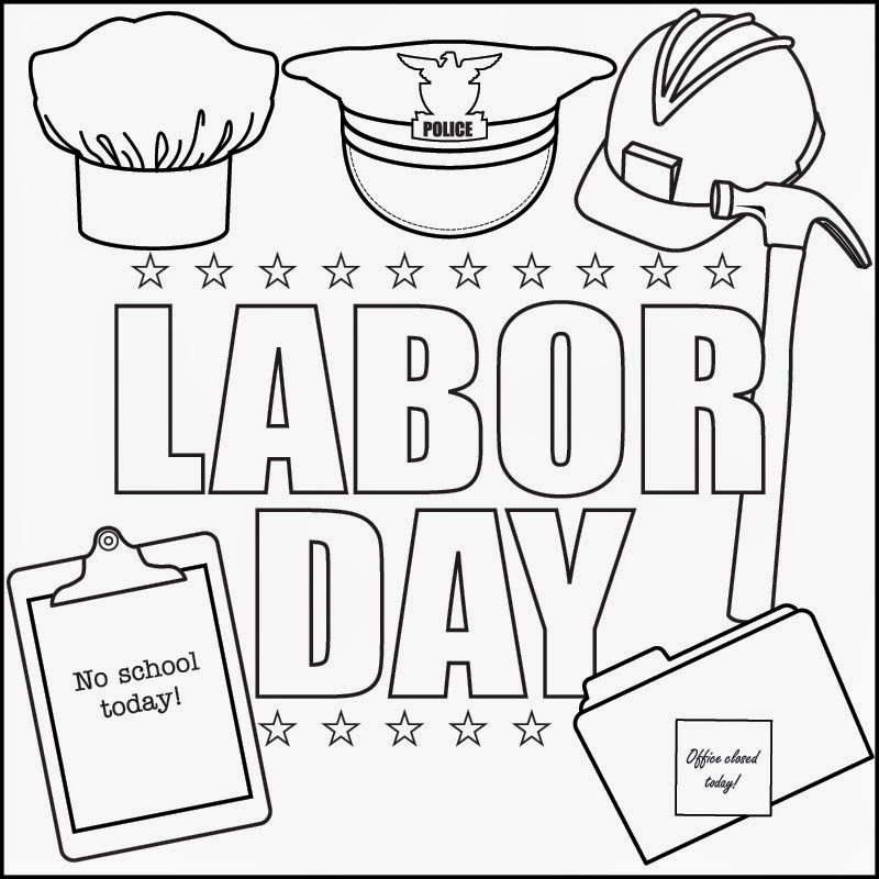 Labor Day Coloring Pages  Labor Day Picnic Clipart