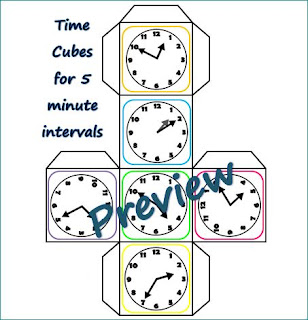 Roll-it-Say-it-Telling-Time-Cubes