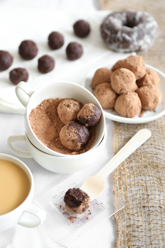 Chocolate Donut Coffee Truffles And A Dunkin Donuts Giveaway
