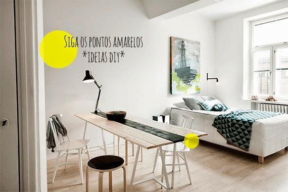 muitas ideias para apartamento pequeno - espaços coloridos