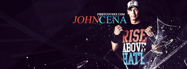 اليكم صورة غلاف ففيس بوك لنجم المصارعة جون سينا والصورة تصلح للشباب