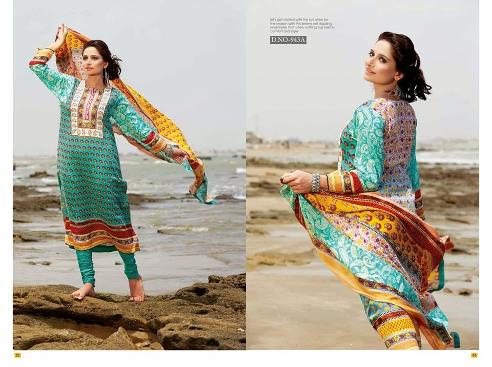 Pakistani lawn suit designs