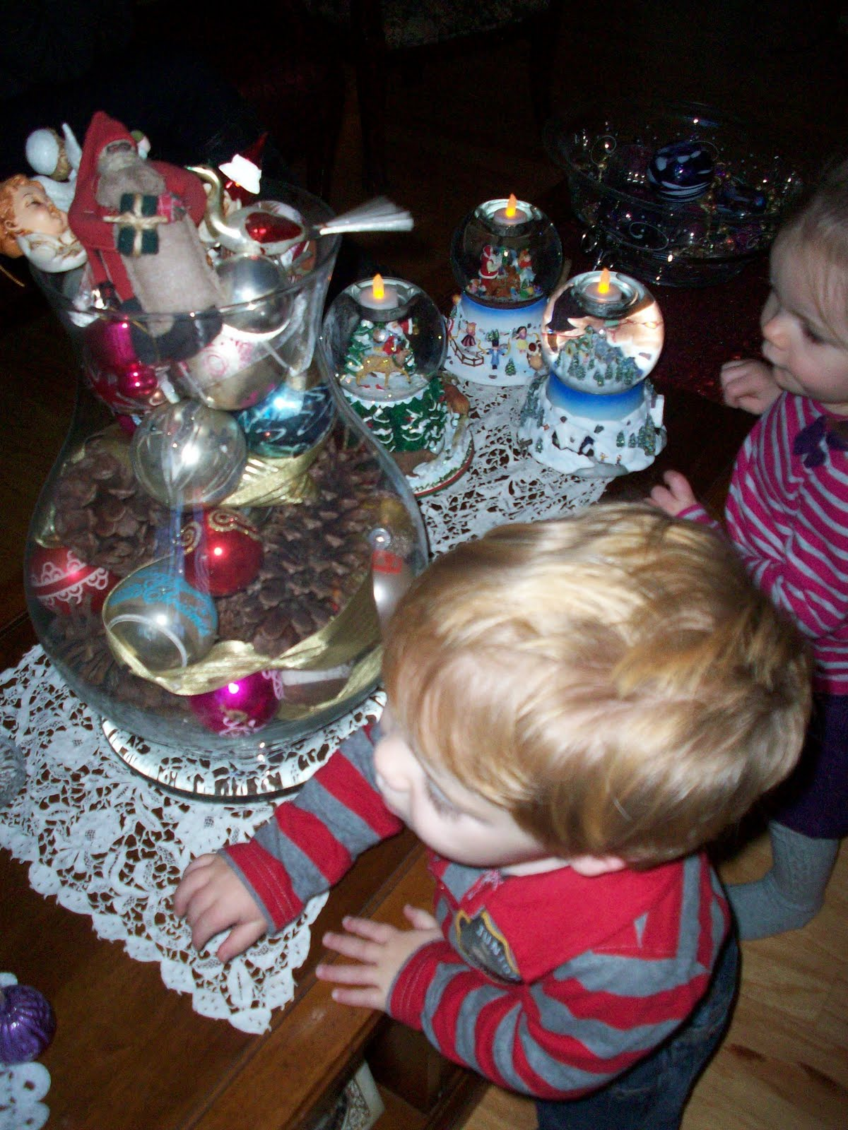 There Were Snow Globes And Ornaments Hanging On Things The Bits Were  Enthralled