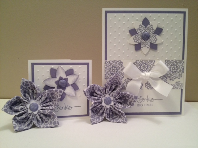 Cards with detachable Fabric Flower magnets.