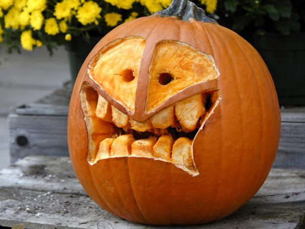 Halloween traditional pumpkin carving ideas from hgtv
