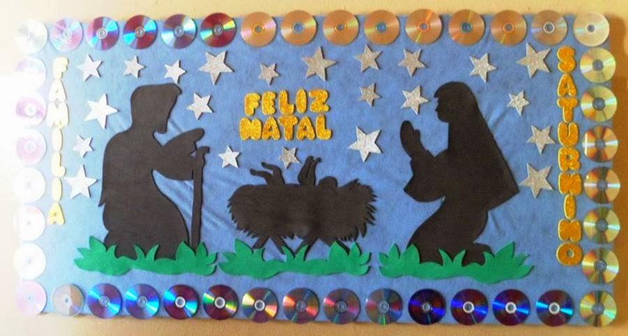 Medi ndo com f m lia s turnino painel de natal for Mural sobre o natal