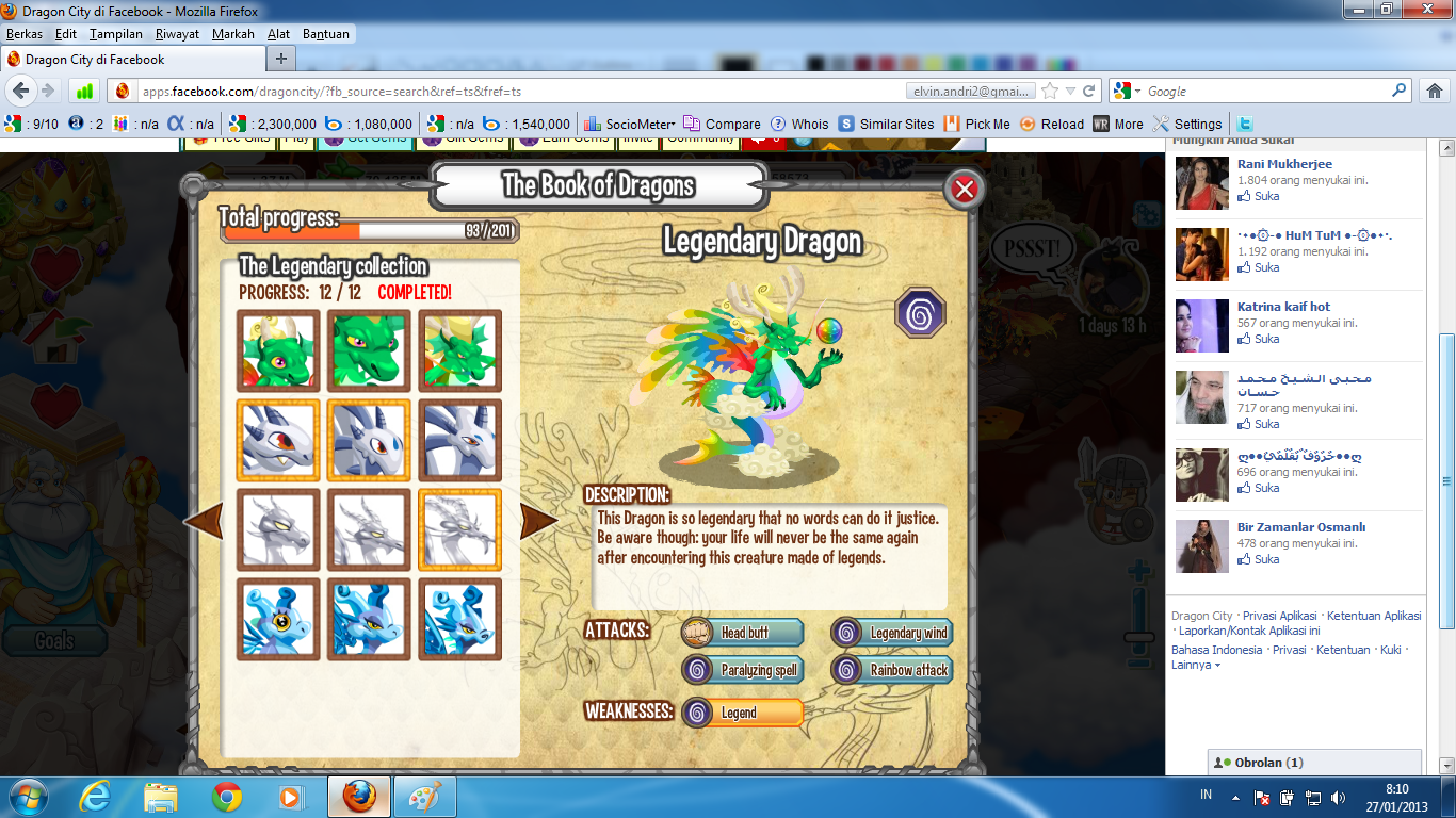Dragon City Lengkap Dengan Gems, Gold, Strawberry, Dan Dragon