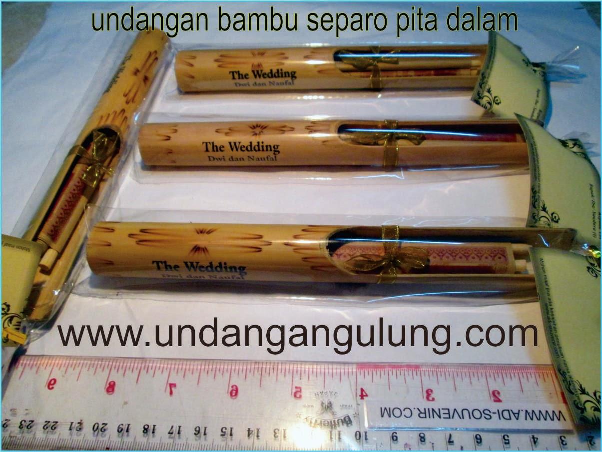 undangan gulung bambu separo