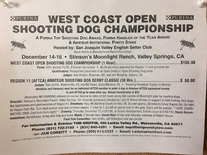Ad: West Coast Shooting Dog Championship