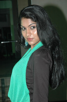 swasika in black dress at event hot images